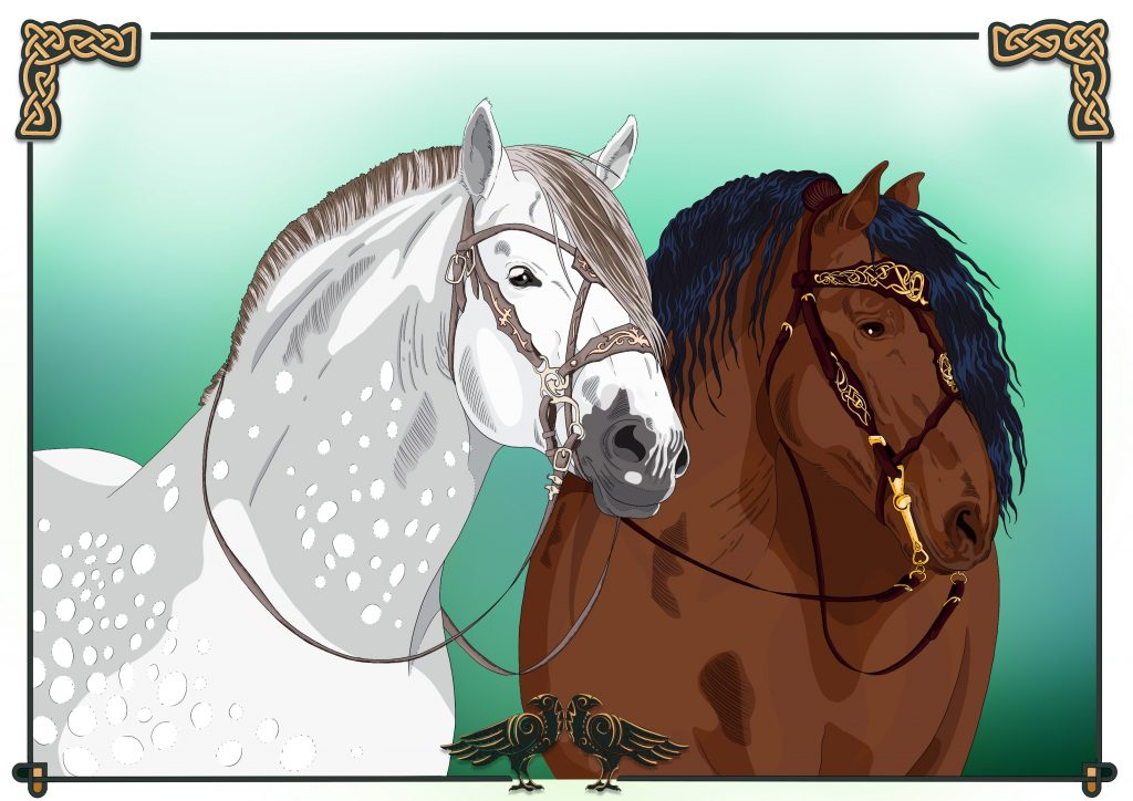Pippin and Odin PRE Stallions from SR Nordica printable