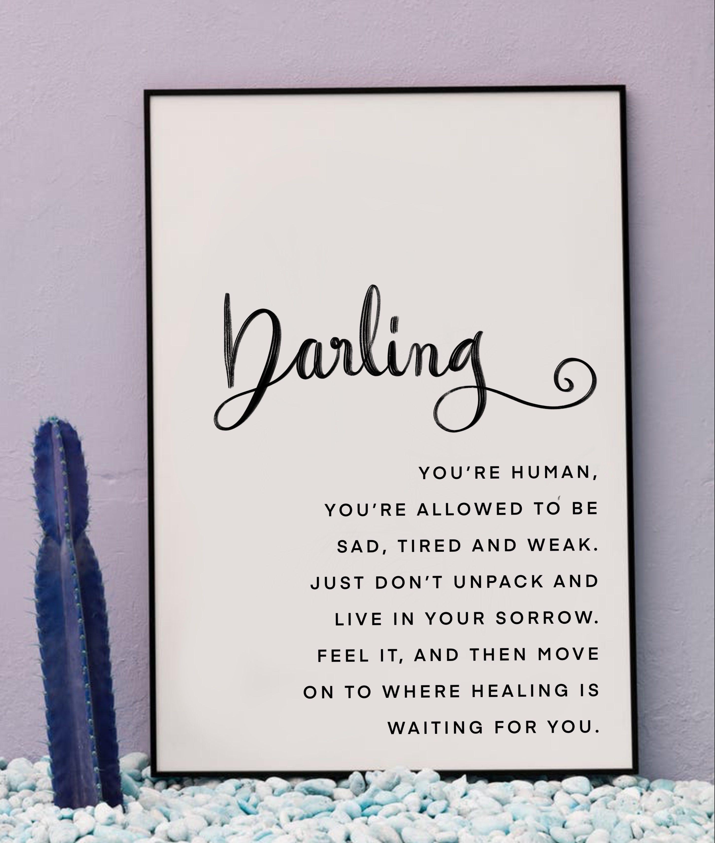 FREE 'Darling' Typography Poster Download - Eva Hussain